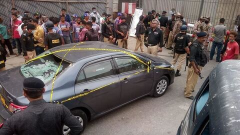 ۵ کشته در حمله مسلحانه به بورس کراچی پاکستان