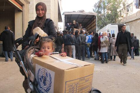قطر از کمک بشردوستانه ۱۰۰ میلیون دلاری به سوریه رونمایی کرد